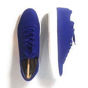 Kenneth Cole Kam-era 2 Blue Suede Sneaker Size 6